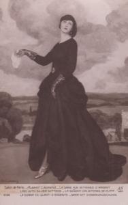 Albert Laurens La Dame Aux Mitaines D'Argent Lady With Silver Mittens Postcard