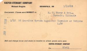Indianapolis IN Kiefer-Stewart Wholesale Drugs~Gaovitt Patent Medicine Postal