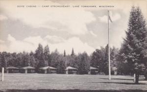Boys Cabins Camp Strongheart Lake Tomahawk Wisconsin Artvue