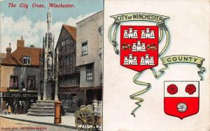 Winchester The City Cross City of Manchester Coat of Arms Postcard