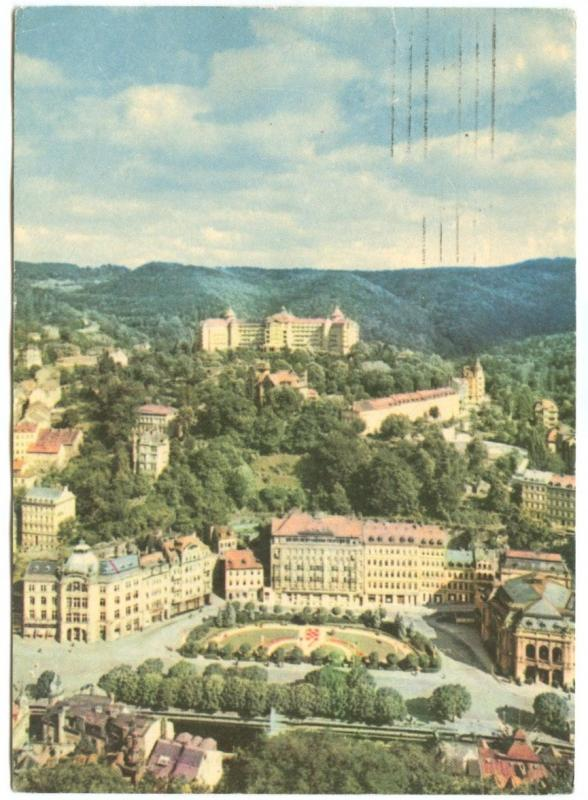 Czech Republic, KARLOVY VARY, View of the Spa, & Imperial Hotel, 1967 used
