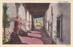 Front Corridor Mission San Juan Capistrano California Curteich