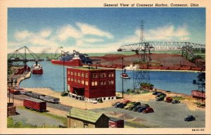Ohio Conneaut General View Of Harbor Curteich