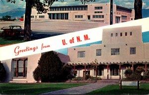 New Mexico University Of New Mexico Greetings Showing Johnson Gymnasium & Lib...