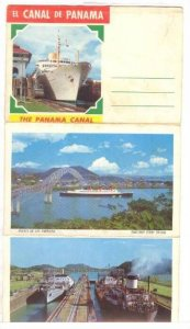 Souvenir Folder, 14 Views Of The Panana Canal, El Canal De Panama, 1950-1970s