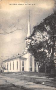 Westfield New Jersey~Steeple of Presbyterian Church Sneaks Past Tree 1957