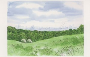 Hampstead Heath from Kenwood in July London Painting Postcard