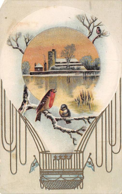 Toledo Ohio~Lion Coffee Card~Woolson Spice Co~Birds in Hot Air Balloon~1890s VTC