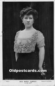 Miss Marie Tempest As Mrs Do Theater Actor / Actress 1908