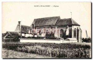 Old Postcard Saint Lye La Foret The Church