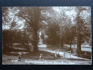 Kent RAINHAM Berengrave Lane c1913 RP Postcard by W.N. Eastgate Series