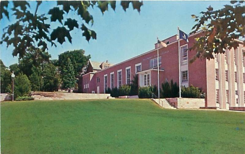 WILLIMANTIC CONNECTICUT EASTERN CT STATE COLLEGE CLASSROOM ADMIN POSTCARD c1970s