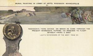 MINNEAPOLIS, Minnesota, 1900-10s; Hotel Radisson, Lobby Mural # 1