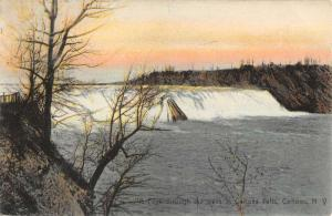 Cohoes New York Water Falls Scenic View Antique Postcard K90127