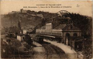 CPA Excursion en Franche..BESANCON - Gare de la Mouilléve et Citadelle (299842)