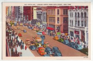 P964 vintage many old cars etc 5th ave north from 40th street new york