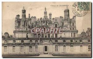 Old Postcard Chateau de Chambord Facade