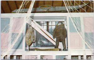 Eskimo whale hunting equipment: whale harpoon, skin suit - Sitka, Alaska