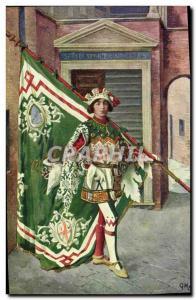 Postcard Old Paggi storiche delle Contrade di Siena Oca Duck Goose Costume Fo...