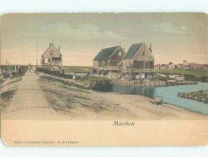 Pre-1907 NICE VIEW Marken - Mereke - Waterland - North Holland Netherlands i5342