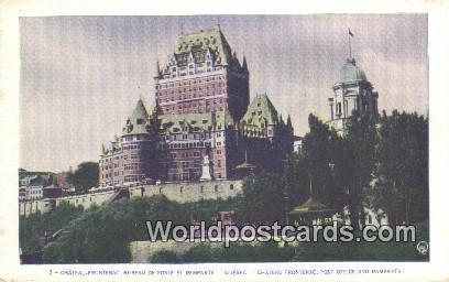 Quebec canada du canada chateau frontenac bureau de poste et