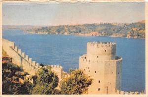 Turkey Rumelihisarindan Bogazici Bosphorus seen from Rumelihisar Istanbul
