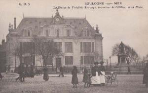 Frederic Sauvange Muscle Man Statue Boulogne Body Builder Monument Old Postcard