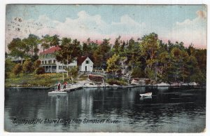 Southport, Me, Shore Lodge from Samosset River