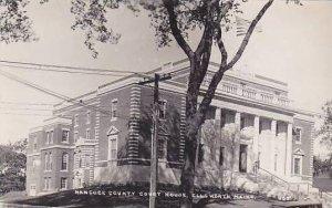 Maine Ellsworth Hancock County Court House Real Photo RPPC