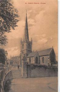 Frome England St Johns Church Exterior View Antique Postcard J61126