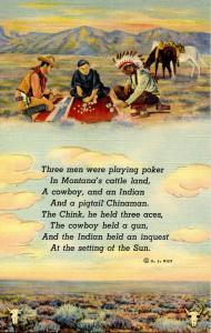 Ethnic Poem - Cowboy, Indian and Chinaman