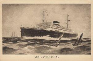 Cosulich Line Trieste Ocean Liner M/SVULCANIA , 1910-30s
