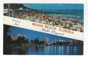 1960's Greetings from Miami Beach, Florida Chrome Postcard