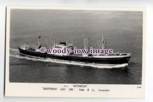 cb0622 - Dutch Ind Gulf Line Cargo Ship - Witmarsum , built 1956 - postcard