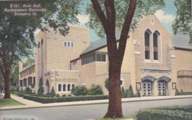 Illinois Evanston Scott Hall Northwestern University Curteich