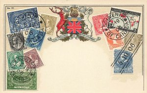 Province of British Columbia Canadian Stamps Postcard