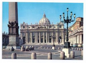 Rome Italy Vatican St Peters Basilica Church Postcard