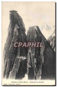 Old Postcard Chain of Mont Blanc Summit Grepon