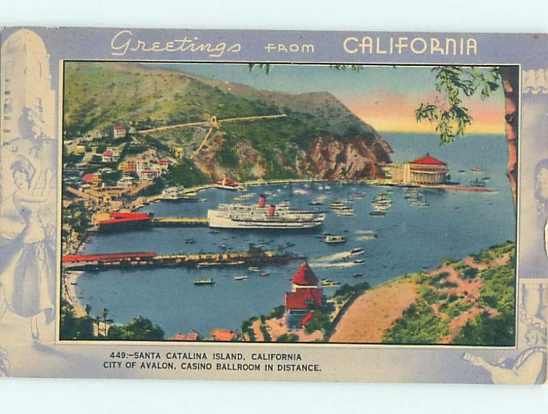 Linen greetings from postcard catalina island los angeles linen greetings from postcard catalina island los angeles california ca ho5968 m4hsunfo