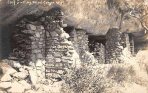 Walnut Canyon Arizona Cliff Dwelling Side Real Photo Antique Postcard K33738