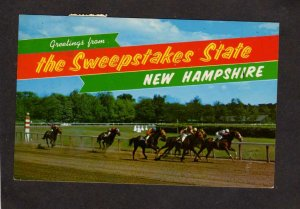 NH Greetings From Sweepstakes State New Hampshire Rockingham Race Track Racing