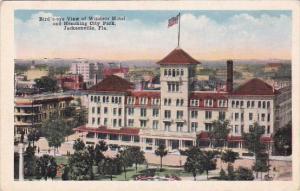 Florida Jacksonville Birds Eye View Of Windsor Hotel And Hemming City Park