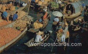 Mahanak Floating Market Bangkok Thailand Unused