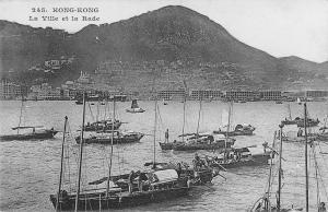 BR94868 hong kong  The city and the harbor ship bateaux  china