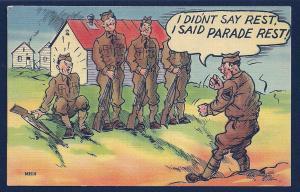 I didn't say rest, I said PARADE Rest unused c1940's