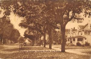 La Porte Indiana~Michigan Avenue Homes~Hitching Posts at Curb~1911 Postcard