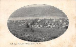 E77/ New Cumberland West Virginia Postcard 1907 Birdseye View River Homes 7