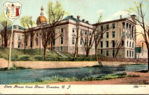 New Jersey Trenton State House From River