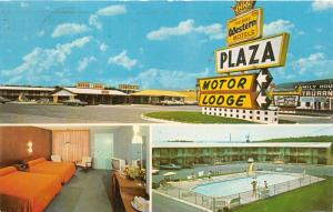 Breezewood Pennsylvania~Plaza Motor Lodge~Lincoln Hwy~Swimming Pool-Room~1972 Pc