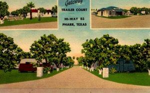 Pharr, Texas - The Gateway Trailer Court on Hi-Way 83 - in 1955